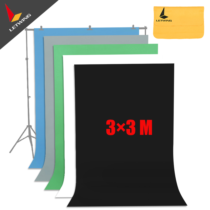 High Quality Black Non-woven Fabric 3*3 M 10x10ft  Background Backdrop for Studio Photo lighting supon 6 color options screen chroma key 3 x 5m background backdrop cloth for studio photo lighting non woven fabrics backdrop