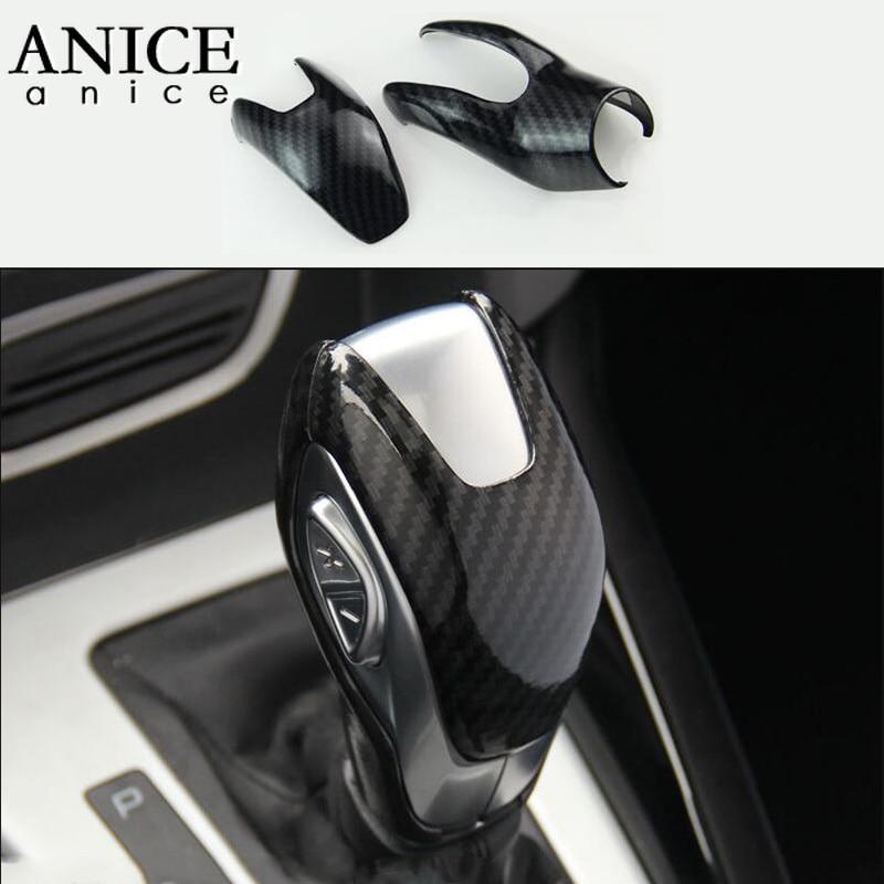 Carbon Fiber Color Inner Gear Shift Knob Cover Trim For Ford focus 2012-2018 AT