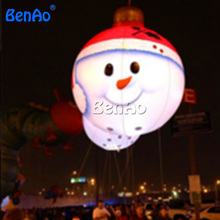 X123 DHL Free shipping+light  2m high christmas inflatable snowman/ball with led light /Lovely snowman in the sky used in good condition f3lc11 1f with free dhl