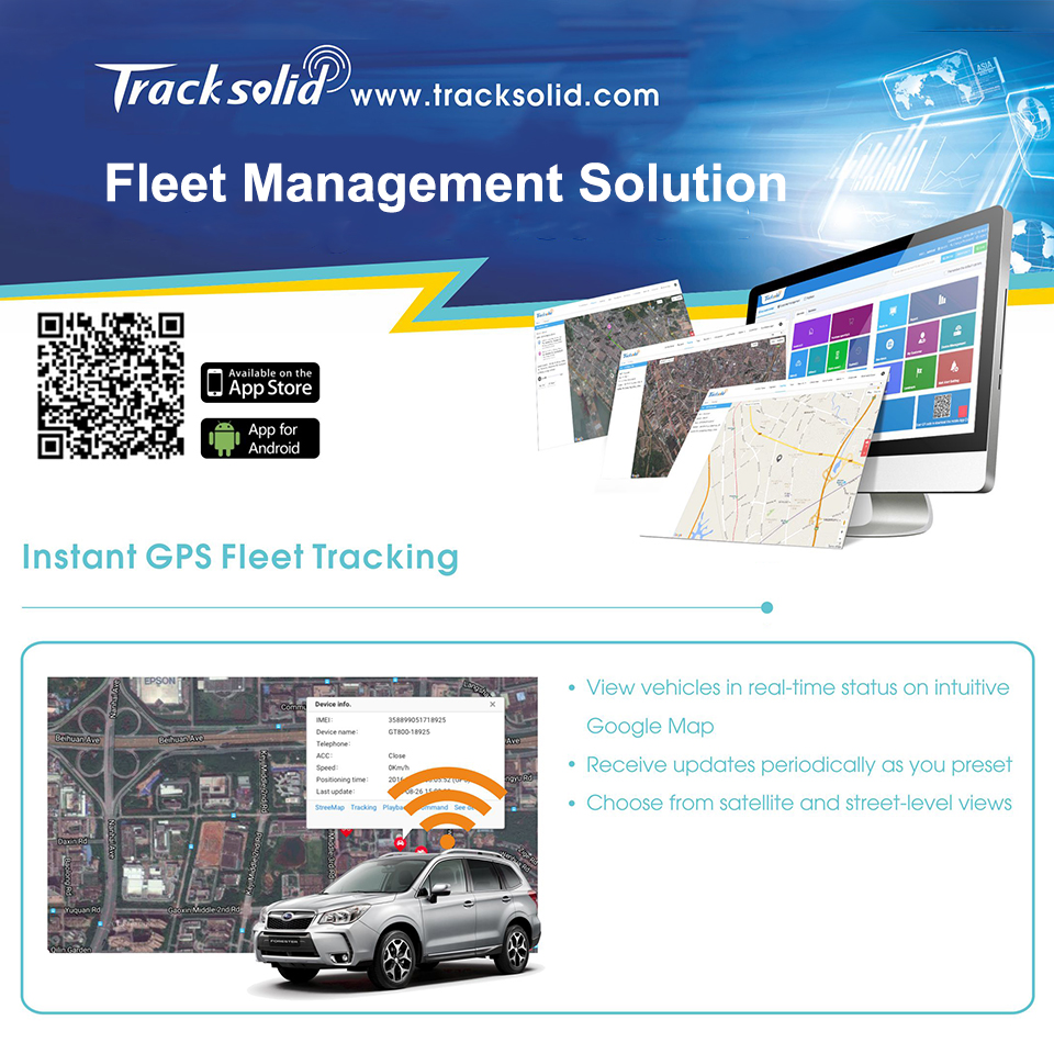 Concox Profesional GPS Tracking Software Tracksolid With Instant GPS Fleet Tracking ,Review History,Geofences,Insightful Reports(China)