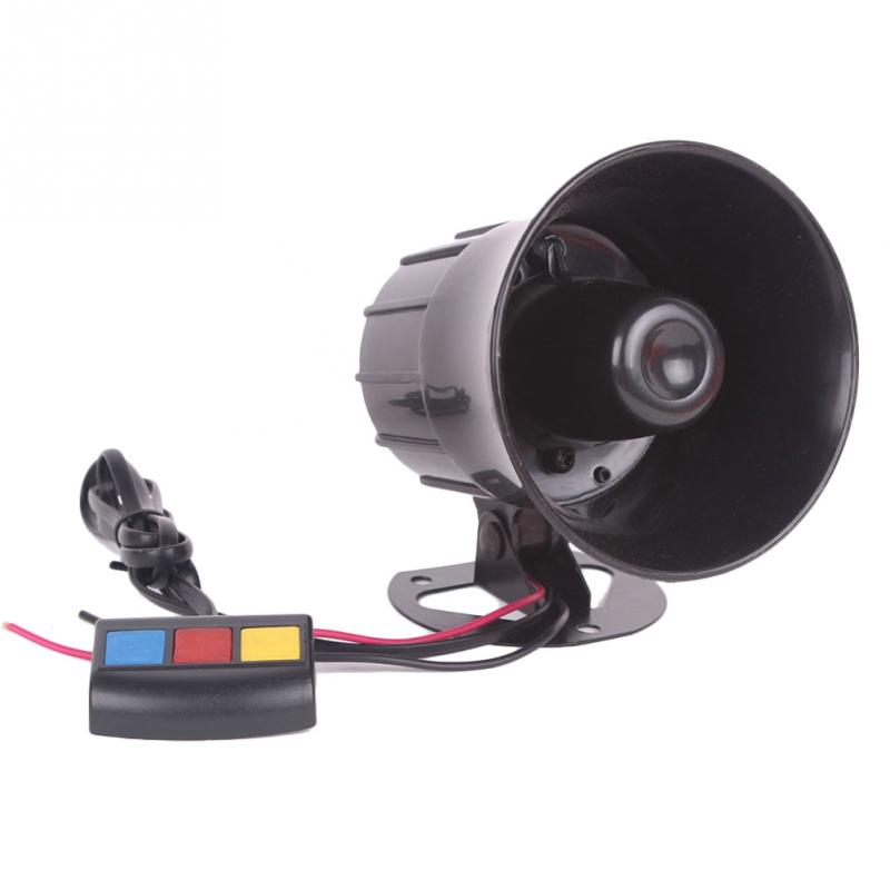Motorcycle Car Security Horn 12V with 3 Sounds Van Vehicle Loud Siren For Car Motorcycle Truck with Super Loud Horn Easy to Set