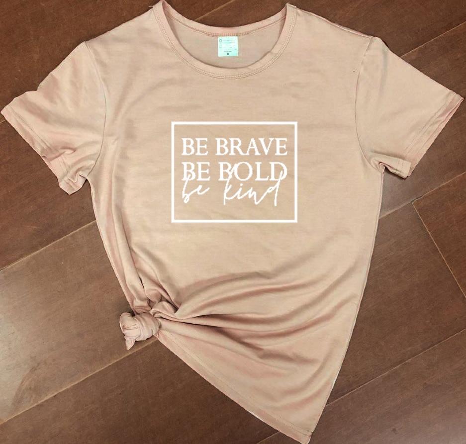 Bądź odważny bądź odważny bądź miły damski chrześcijański t-shirt slogan moda unisex grunge tumblr koszulka casual koszulki tumblr biblia tee top 4