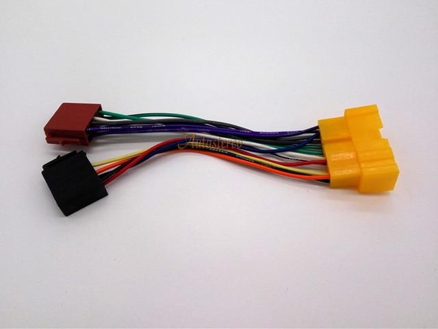 12 018 free ship car iso radio plug wiring harness for nissan almera rh aliexpress com