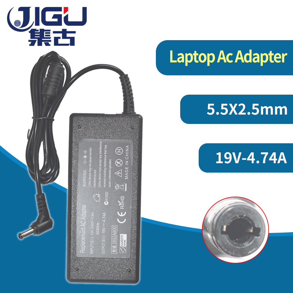 JIGU 19V4.74A 90w AC Power Adapter Laptop Charger For <font><b>Toshiba</b></font> Satellite A300 A200 A100 C850 C850D L850 L850D L855 L750 L650 <font><b>L500</b></font> image