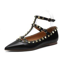 784393c28 Maguidern Cinta Rebites Mulheres Sapatos de Couro de Patente de Alta  Qualidade Studded Slingback Saltos Sexy Sapatos de Mulher P..