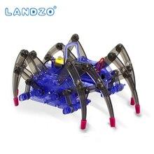 DIY Montar Robô Aranha Elétrica Inteligente Puzzle Brinquedos de Montagem de Construção de Brinquedo Educacional DIY Kit Venda Quente de Alta Qualidade