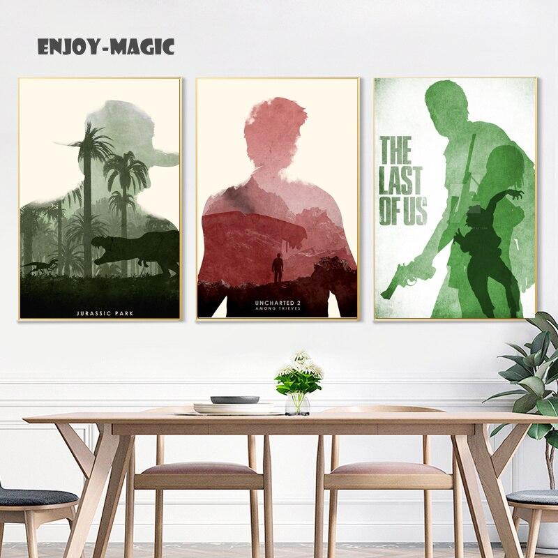 Wohnkultur Leinwand Poster Der Letzte Uns Malerei Wohnzimmer Wandkunst  Moderne 5 Stück Ölgemälde Bild Panel Druck B 049