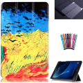 T580 T585 Case for samsung galaxy tab A 10.1 SM-T580 SM-T585 10.1'' tablet smart PU leather print case+screen protector+stylus