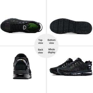 Image 2 - ONEMIX Zapatillas de correr para hombre, zapatos reflectantes de alta calidad, con cojín de aire, para entrenamiento deportivos, para correr, de talla grande