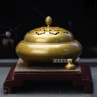 Pure Copper Incense Burners Furnace Antique Buddha Incense Disc Indoor Decoration Home Tea Ceremony Aroma Burner H 20161119 Hot