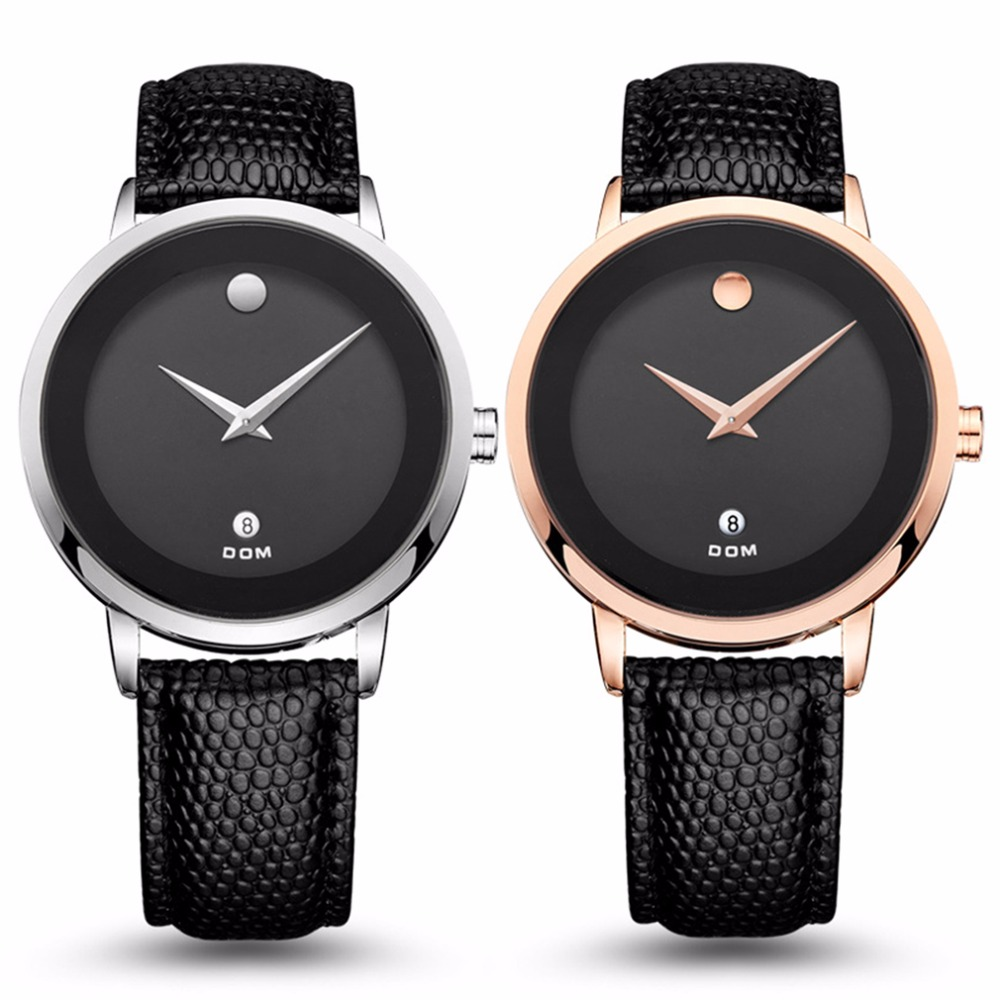 men watches DOM Business Style Men Wrist Watch Casual Waterproof Men Male PU Leather Strap Quartz Wrist Watches Best Gifts подвесной светильник favourite wendel 1602 1pc