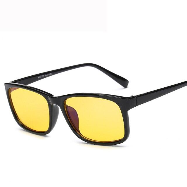 52abcc82d1 Hombres Juegos de Ordenador resistente A La Radiación Gafas Mujeres Anti  Rayos Azules Gafas de Protección