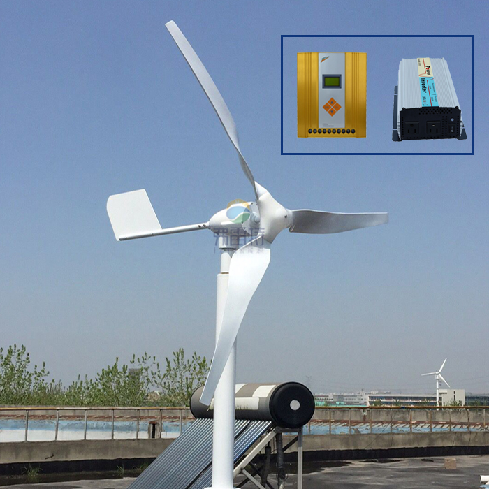600w wind system ,2m/s low start up wind speed with 3 blades full set with MPPT hybrid controller and 1000w inverter free shipping 600w wind grid tie inverter with lcd data for 12v 24v ac wind turbine 90 260vac no need controller and battery