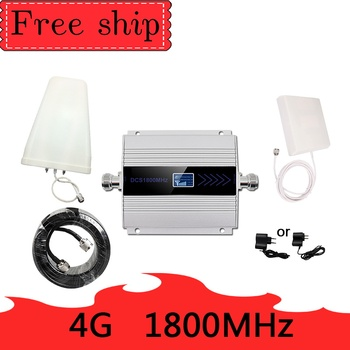 4G LTE DCS 1800mhz Cellular Repeater GSM 1800 60dB Gain Moblie phone Booster GSM 2G 4G amplificador 4G Antenna