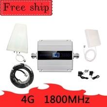 4G LTE DCS 1800mhz الخلوية مكرر GSM 1800 60dB كسب الهاتف المحمول الداعم GSM 2G 4G مكبر للصوت 4G هوائي