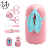 Newborn Baby Healthcare Kits Baby Nail Care Set Infant Nail Clippers Care Set with Rabbit Storage Box for Baby Care Tools 5Pcs