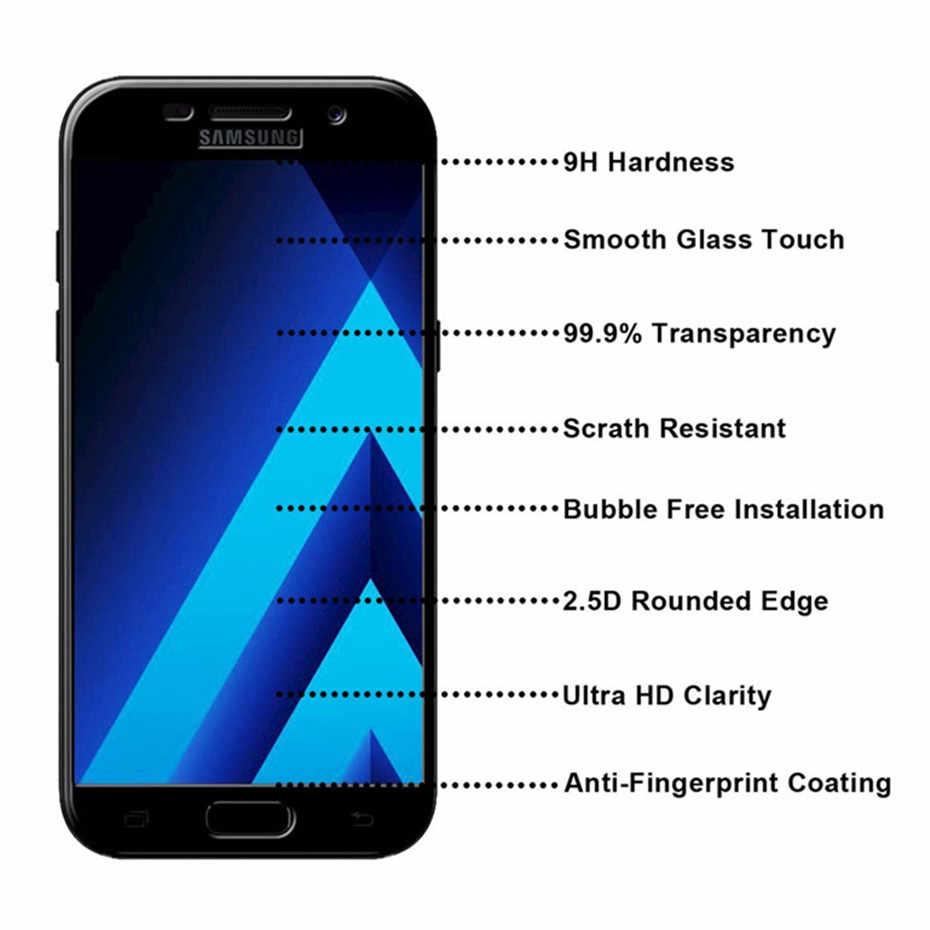 واقي للشاشة فيلم ل samsung A5 A7 A3 2017 2016 كامل غطاء الزجاج المقسى ل samsung A8 2018 galaxy A8 زائد 2018 A5 2017