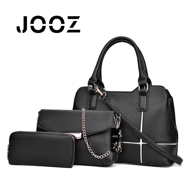 JOOZ Brand Luxury Candy Color Lady Handbag 3 Pcs Composite Bags Set Women Patchwork Shoulder Crossbody Messenger Bag Girl Clutch jooz brand luxury belts solid pu leather women handbag 3 pcs composite bags set female shoulder crossbody bag lady purse clutch