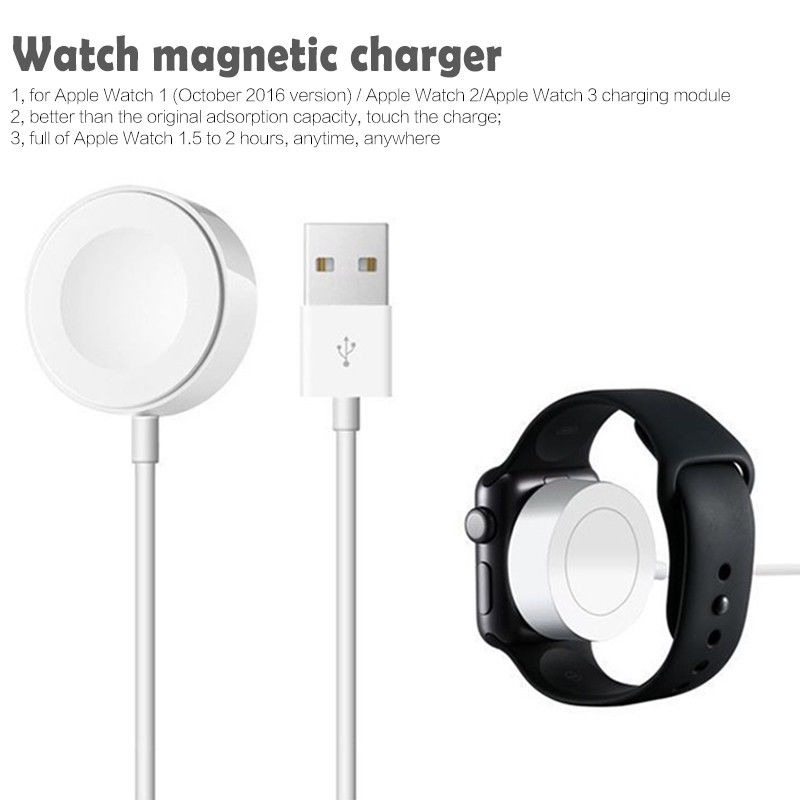 Newest Wireless Charger for iWatch Series 2 3 USB Magnetic Watch Charging Cable 3.3 feet/1meter for Apple Watch Charger Adapter
