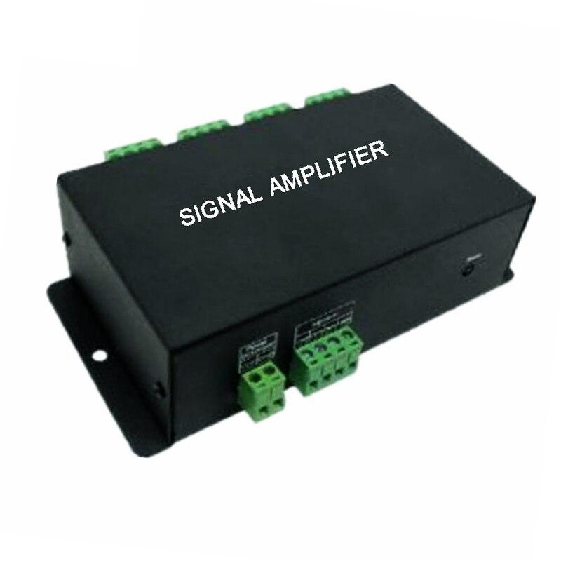 HC800 DC12V 24V 8 Channels SPI TTL Signal Synchronizer LED Amplifier 8CH 8 Ports Output For Dream Color Pixel Led Strip Light