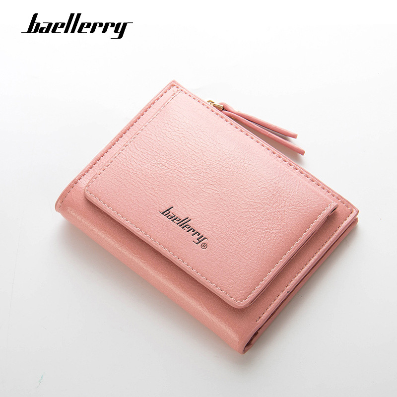 Baellerry  Wallet Women Leather Top Quality Small Wallet Three Fold Purse Female Money Bag Small Zipper Coin Pocket Fashion