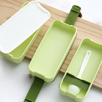 Hot Sale 900ml Portable 3 Layer Healthy Food Container Microwave Oven Lunch Bento Boxes Lunchbox