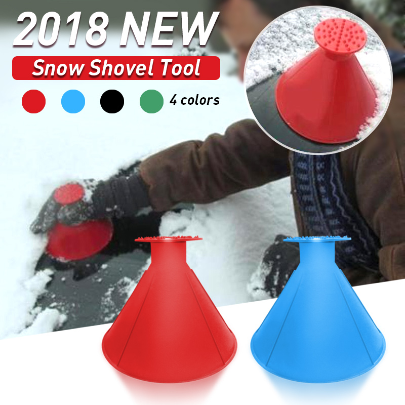 1pcs Auto Car Magic Window Windshield Car Ice Scraper Shaped Funnel Snow Remover Deicer Cone Deicing Tool Scraping ONE Round(China)