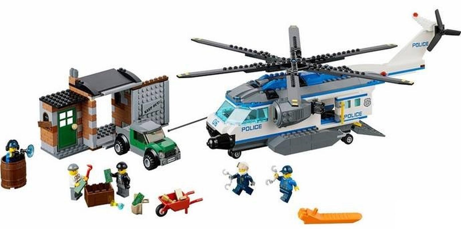 BELA 10423 Compatible Legoings City Helicopter Surveillance 60046 Building Blocks Figure Educational Toys For Children laete 60046 2