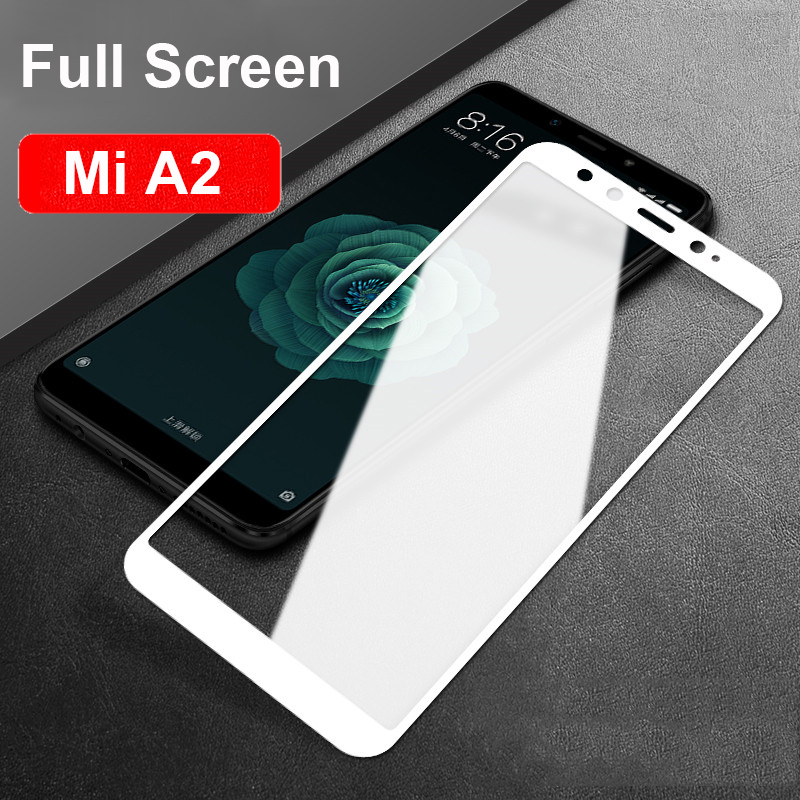 Clear Premium Tempered Glass Screen For Xiaomi Mi A2 Mi 6X Full Cover Ultra-thin Protective Glass For Xiaomi Mi A1 / Mi A2 Xiomi