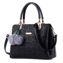 Hot Sale Womens New Fashion Lace Handbag Leather Shoulder Bags West style Tote Bags High Capacity