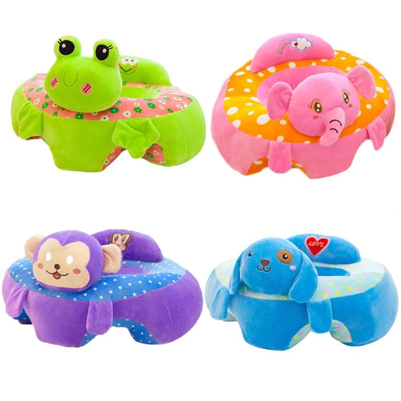 Baby Seats Sofa Toys Cartoon Cute Animal Seat Support Seat Kids Plush Toy For Kids Learning Seat