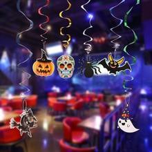 6pcsset halloween hanging roll pumpkin ornaments halloween decorations halloween bar ktv ceiling mount