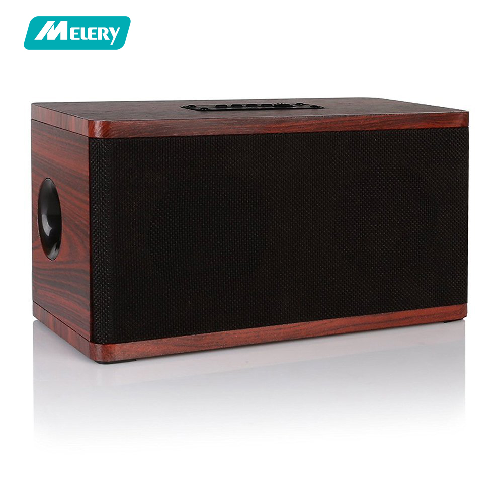 Wooden Bluetooth Speaker Retro Wireless Portable Stereo Sound System Super Bass HD Audio MP3 Player 3.5mm Aux USB TF SD Card 2018 new original kingone k55 multifunction stereo bluetooth loud speaker sound box super bass tf card mp3 player handsfree