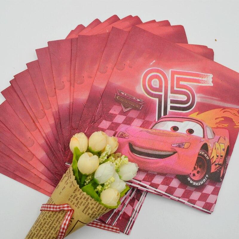 20 unids/bolsa coches fiesta de cumpleaños servilleta tema niños festival de cum