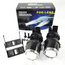 1pair 12V/35W 4300K car auto fog hid xenon projector lens H3 light fog light 1.8inch xenon fog projector lens