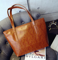 Transporte livre novo mulheres saco 2015 nova moda pu bolsas de couro bolsa de Ombro da forma saco de compras de alta capacidade simples
