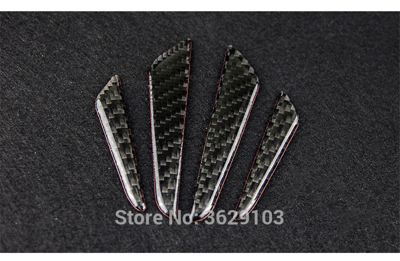4PCS Car door protection carbon fiber scratch rubber stickers car-styling for Land Rover discovery 3 4 freelander 2 defender a9