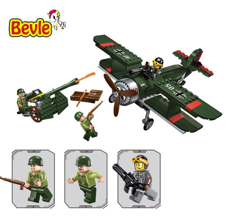 Bevle Enlighten 1705 Military Series Army Fighter Battleplanes Building Block Compatible With Lepin Swat Team Kids Toys 1713 city swat series military fighter policeman building bricks compatible lepin city toys for children