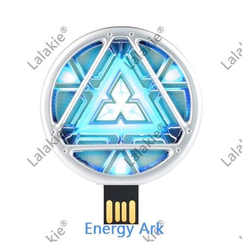 US $3 41 6% OFF|Avengers Iron Man Energy Ark 512 GB USB Flash Drives 128GB  256GB LED Light Pendrive Flash Memory Stick Gift Pen Drive 64GB 2 0-in USB