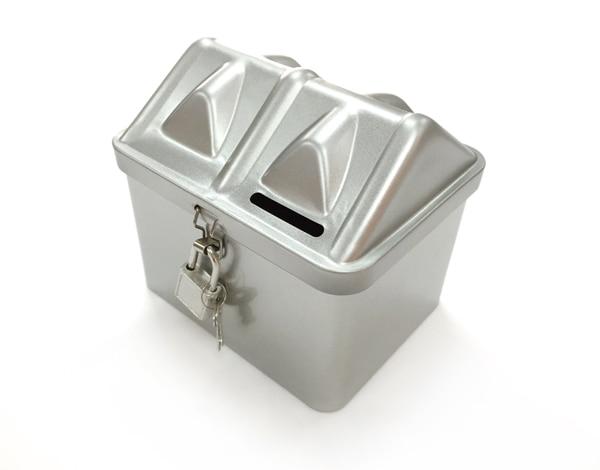 Creative diy tin lockable coin piggy bank money storage for How to open a tin piggy bank