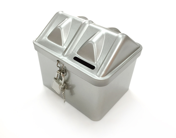 creative diy tin lockable coin piggy bank money storage box container with lock birthday gift - Lockable Storage Box