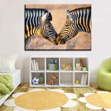 Modern Children Room Wall Art Home Decorative Canvas HD Prints Artwork Poster Animal Picture 1 Panels Wildlife Zebra Painting