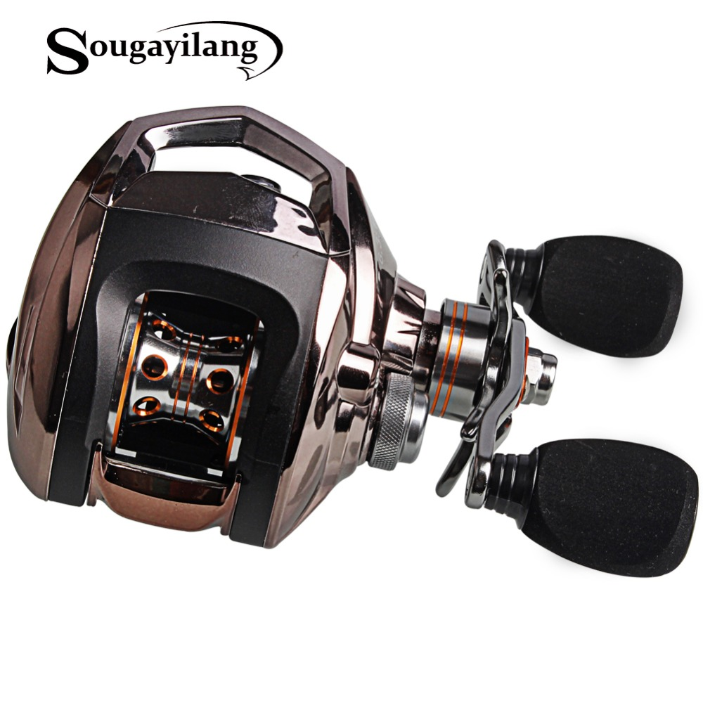 Sougayilang Baitcasting Fishing Reel LP200R 18+1 Ball Bearings Carp Fishing Reel Left/Right Hand Choosen Fishing Reel Tackle nunatak original 2017 baitcasting fishing reel t3 mx 1016sh 5 0kg 6 1bb 7 1 1 right hand casting fishing reels saltwater wheel