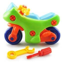 Детский мотоцикл игрушка-конструктор винт DIY Набор гаек разобрать игрушки головоломки