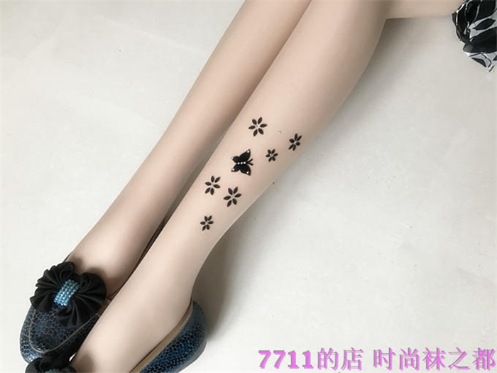 women sexy Silk stockings super thin pantynose tattoo shade free shipping butterfly rhinestone