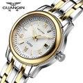 GUANQIN Relógios As Mulheres Se Vestem de Moda Relógio de Quartzo Relogio feminino Pulseira de Ouro de Luxo Da Marca À Prova D' Água Relógio de Pulso montre femme