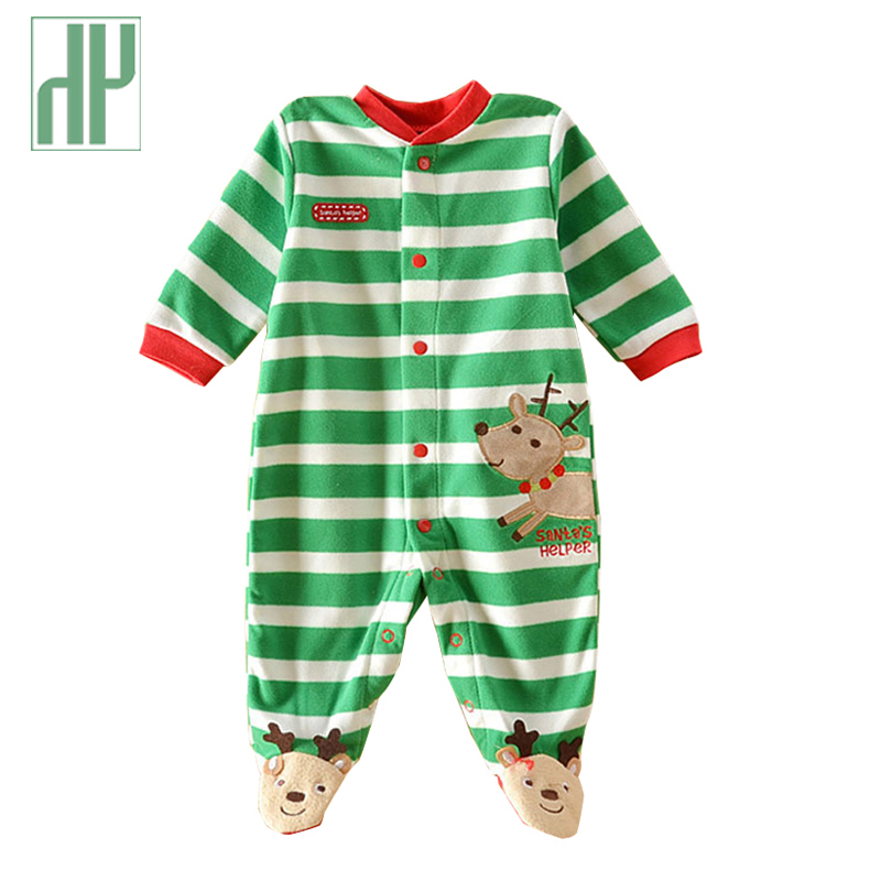 Baby rompers 2017 christmas baby snowsuit winter infant clothing fleece jumpsuit animal coveralls newborn baby boy girl clothes baby rompers baby winter coveralls infant boy girl fleece romper ropa nena invierno knitted stripe jumpsuit bebe newborn outwear
