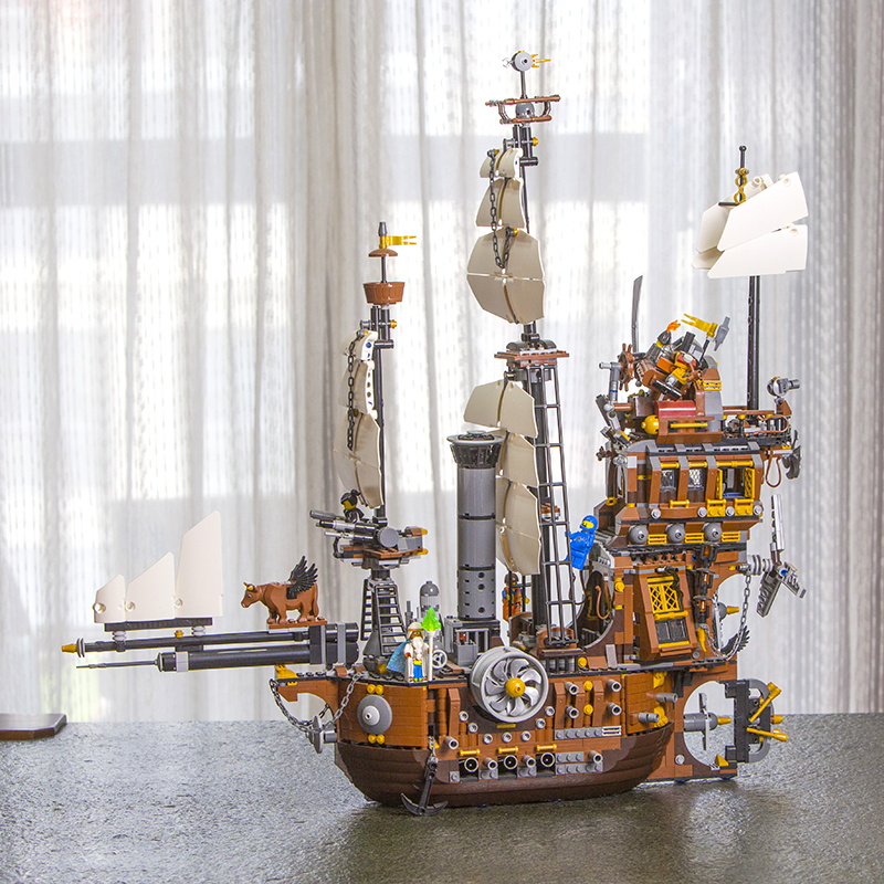 In Stock 16002 Pirate Ship Metal Beard's Sea Cow Model Building Blocks Bricks Toys for Children Boy Gifts Compatible 70810 83038-in Blocks from Toys & Hobbies    1