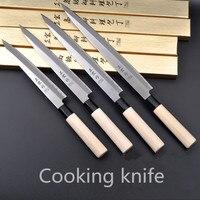 Darmowa Wysyłka ZHZ Japoński Styl Kuchnia Ze Stali Nierdzewnej Sashayed Surowe Ryby Krojenie Nóż Szefa Kuchni Gotowanie Noże Sashimi Sushi