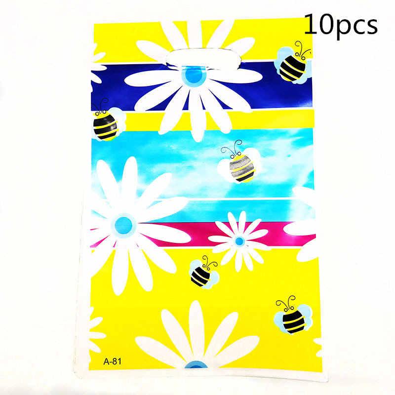 10 個ギフトバッグ戦利品バッグ蝶蜂のプラスチックバッグキッズ誕生日パーティーサプライイベントパーティー装飾セットキャンディーバッグ